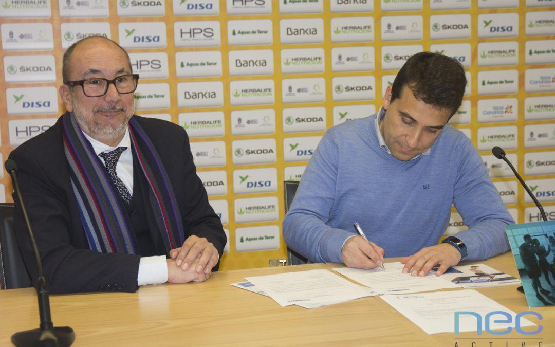 Firma del acuerdo para el uso de Human Tecar en el C.B. Gran Canaria