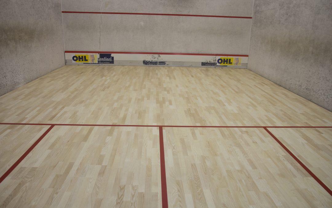 Instalación de pistas de squash en el Servicio de Deportes de la Universidad de Las Palmas de Gran Canaria