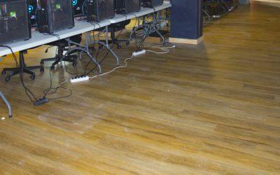 Instalación de pavimento Creation 55 Clic System de Gerflor en el Museo Elder