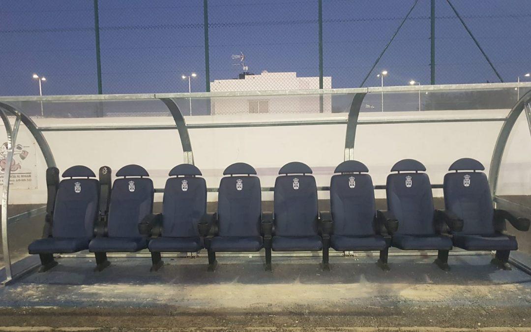 Banquillo VIP marca Decan en Lanzarote