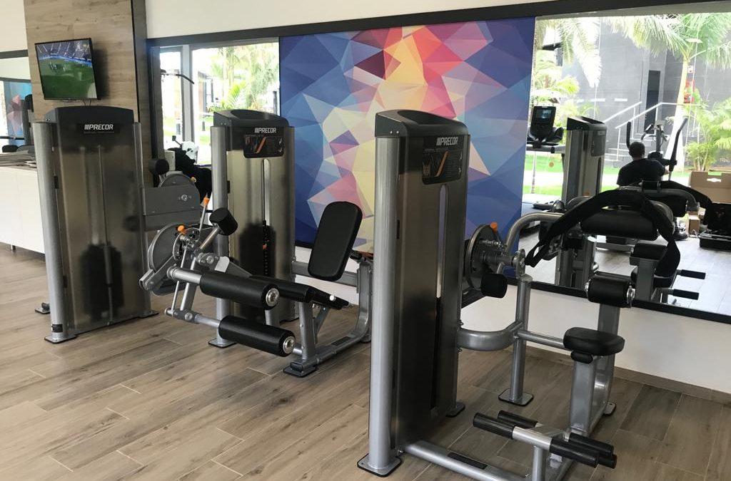 Máquinas de Gimnasio marca Precor en el Hotel Riu Palace Oasis en Gran Canaria