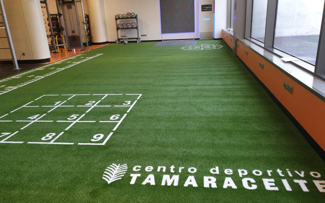 Césped Turflex con marcaje insertado para el Centro Deportivo Tamaraceite en Gran Canaria