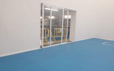 Instalación de pavimento deportivo en la Ciudad Deportiva Gran Canaria