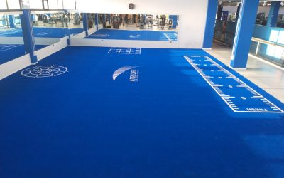 Pavimento fitness Paviflex de Césped Turflex con marcajes en Arrecife